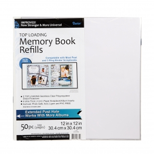 Darice Memory Book Refill Pages - 12 x 12 inches - 50 pieces