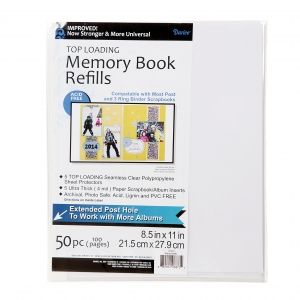 Darice Memory Book Refill Pages - 8.5 x 11 inches - 50 pieces
