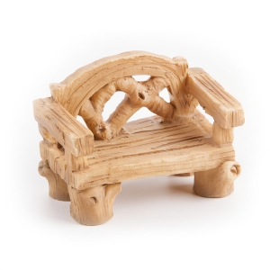 Darice Yard and Garden Minis - Wood-Look Bench - Resin - 1.5 x 2 inches