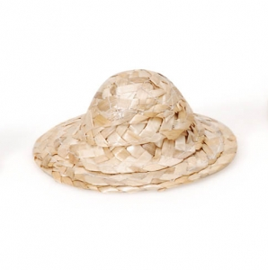 Wicker Hat - Natural - 3 inches