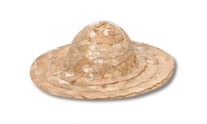 Wicker Hat - Natural - 4 inches