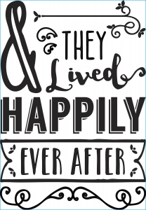 Darice Iron-On Transfer - Happily Ever After - Black - 6.75 x 9.75 inches