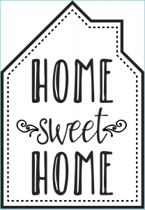 Darice Iron-On Transfer - Home Sweet Home - Black - 6.75 x 9.75 inches