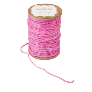 Get Organized Spool of Colored Jute Twine - Pink Cord - 200 feet