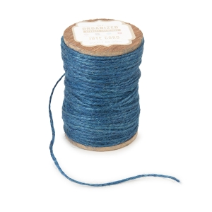 Get Organized Spool of Colored Jute Twine - Blue Cord - 200 feet