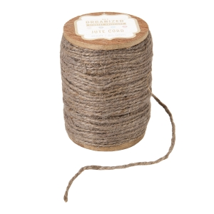 Get Organized Spool of Colored Jute Twine - Taupe Gray Cord - 200 feet