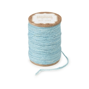 Get Organized Spool of Colored Jute Twine - Light Blue Cord - 200 feet