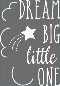 Darice Iron-On Transfer - Dream Big - White - 6.75 x 9.75 inches