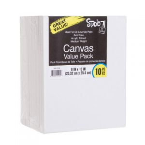 VALUE PACK STRETCHED CANVAS 8X10 10PK