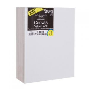 VALUE PACK STRETCHED CANVAS 11X14 7PK