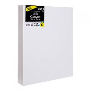 VALUE PACK STRETCHED CANVAS 16X20 5PK
