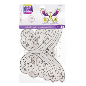 Foamies Paper Butterfly Mask: 10.25 x 7 inches, Makes 3