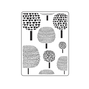 Darice Embossing Folders: Dotted Trees Pattern