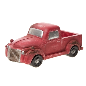 Darice Mini Fairy Garden Accessories: Old-Fashioned Red Pickup Truck