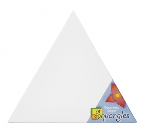 Squangles Decorating Shapes - Triangle Canvas Panel - 12 in