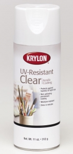 Krylon Spray - UV Resistant - Clear Acrylic - 11 oz