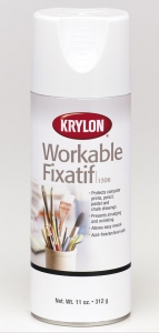 Krylon Spray - Workable Fixative - 11 oz