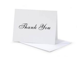 Victoria Lynn Thank You Card Set - Black Imprint - 5 x 7