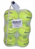 "Dudley Bag of Balls Slowpitch Softball, Synthetic Cover, Cork Center, 0.44 Cor, 12"", 6-Pack"