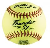 "Dudley Thunder SY Fastpitch Softball, Synthetic Cover, Poly Center, 0.47 Cor, 11"", Dozen"