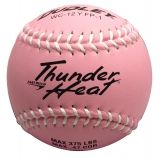 "Dudley Thunder Heat Pink Fastpitch Softball, Composite Cover, Poly Center, 0.47 Cor, 12"", Dozen"