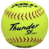 "Dudley Thunder SY Slowpitch Softball, Synthetic Cover, Poly Center, 0.44 Cor, 12"", Dozen"