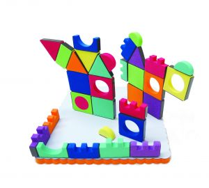Magic Shapes - 54 Pcs - W/Board