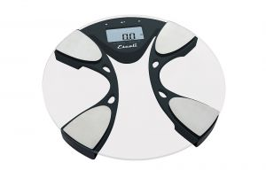 Glass Body Fat / Body Water Bathroom Scale, 440 Lb / 200 Kg