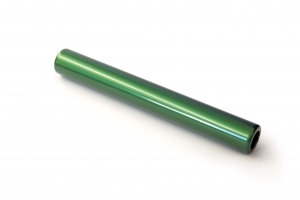 ALUMINUM BATONS; GREEN; SET OF 8