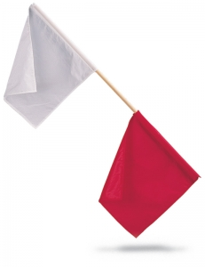 OFFICIALS FLAGS; RED/WHITE