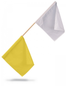 OFFICIALS FLAGS; YELLOW/WHITE