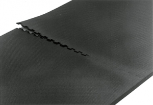 INTERLOCK RUBBER FLOOR MAT; BLACK; 1/2
