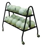 21 Ball Carrier with steel frame crossbars and casters 36H x 22W x 39L black