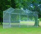 Permanent Baseball/Softball Backstop 4 Panels 2 Center Overhangs 2 Wing Overhangs