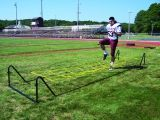 High Stepper Agility Trainer with Steel Tube Frame and Suspended Rope Running Grid 5 heights 20'L x 6'W