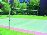 Recreational Outdoor Volleyball System Including Uprights Ground sleeves Locking Aluminum Caps Nets sold separately