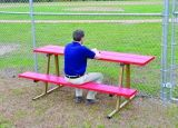 Standard Scorers Table Powder Coated Aluminum 7.5'L x 10W Seat & 19W Table Steel Legs Specify Color