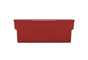 Plastic Cubbie Tray in Red