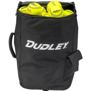 Spacious bag holds close to 4 dozen softballs. Equipped with all-terrain, heavy duty wheels and easy, pul-and-control telescoping handle. Engineered with an easy grab handle on side for easy lifting.
