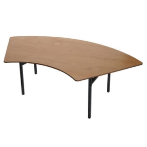 30 w X 66 dia X 30H Crescent Table