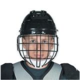 Helmet With Wire Face Cage, Senior, Black