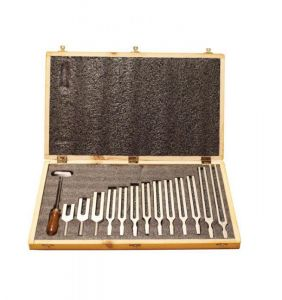 TUNING FORK, BOXED SET OF 13, 100 HZ TO 4096 HZ