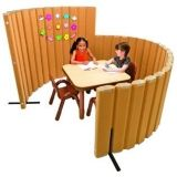 "Angeles  72""L X 30""H SoundSponge Quiet Dividers Wall with 2 Support Feet - Natural Tan"