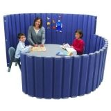 "Angeles  72""L X 30""H SoundSponge Quiet Dividers Wall with 2 Support Feet - Blueberry"