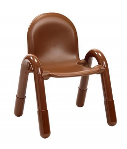"Angeles Baseline 11"" PVC Classroom Chair -Cocoa (3-5 CHAIRS)"