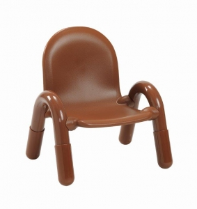 "Angeles  Baseline 7"" PVC Classroom Chair - Cocoa (3-5 CHAIRS)"