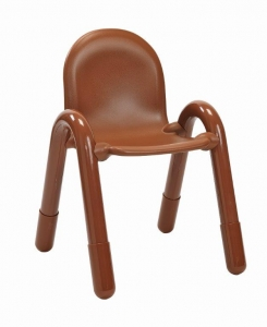 "Angeles  Baseline 13"" PVC Classroom Chair - Cocoa (3-5 CHAIRS)"