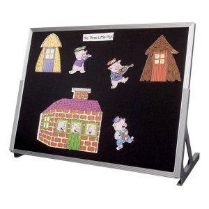 Magnetic Language Easel, Whiteboard/Chalk