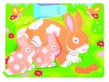 Chunky Puzzle Rabbit and Bunny
