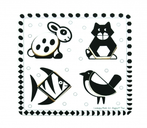 Pets Black and White Puzzle